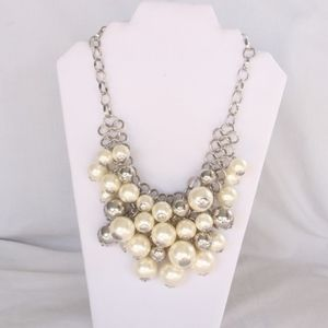 Lane Bryant Necklace Bauble Embellishments Pearl